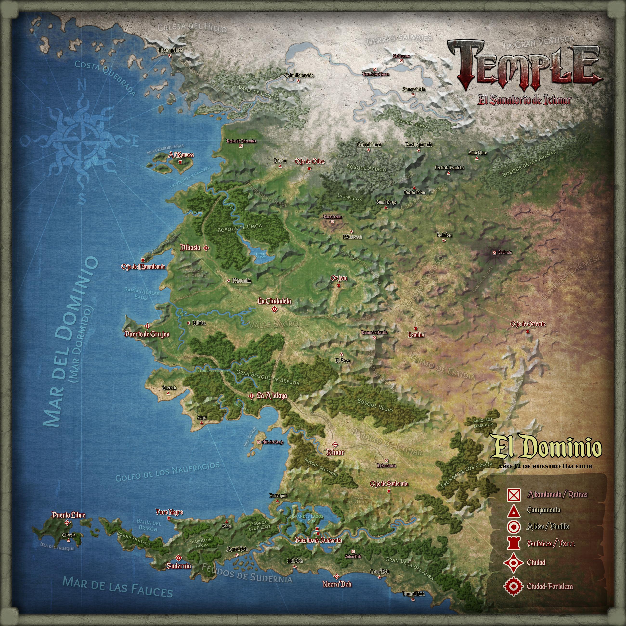 Mapa de El Dominio
